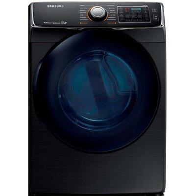 7.5 cu. ft. High Efficiency Electric Dryer Samsung Color: Black Stainless Steel