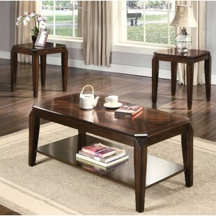 Winston Porter Fortson Coffee and End Table Set (Set of 3)