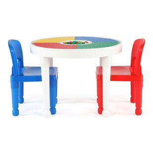 Newkirk Kids 3 Piece Round Table and Chair Set by Zoomie Kids