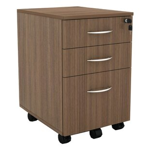 Kangas 3-Drawer Mobile Vertical Filing Cabinet by Symple Stuff Savings