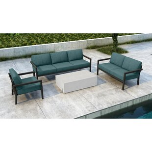 Iliana 4 Piece Sofa Seating Group with Sunbrella Cushions by 17 Stories
