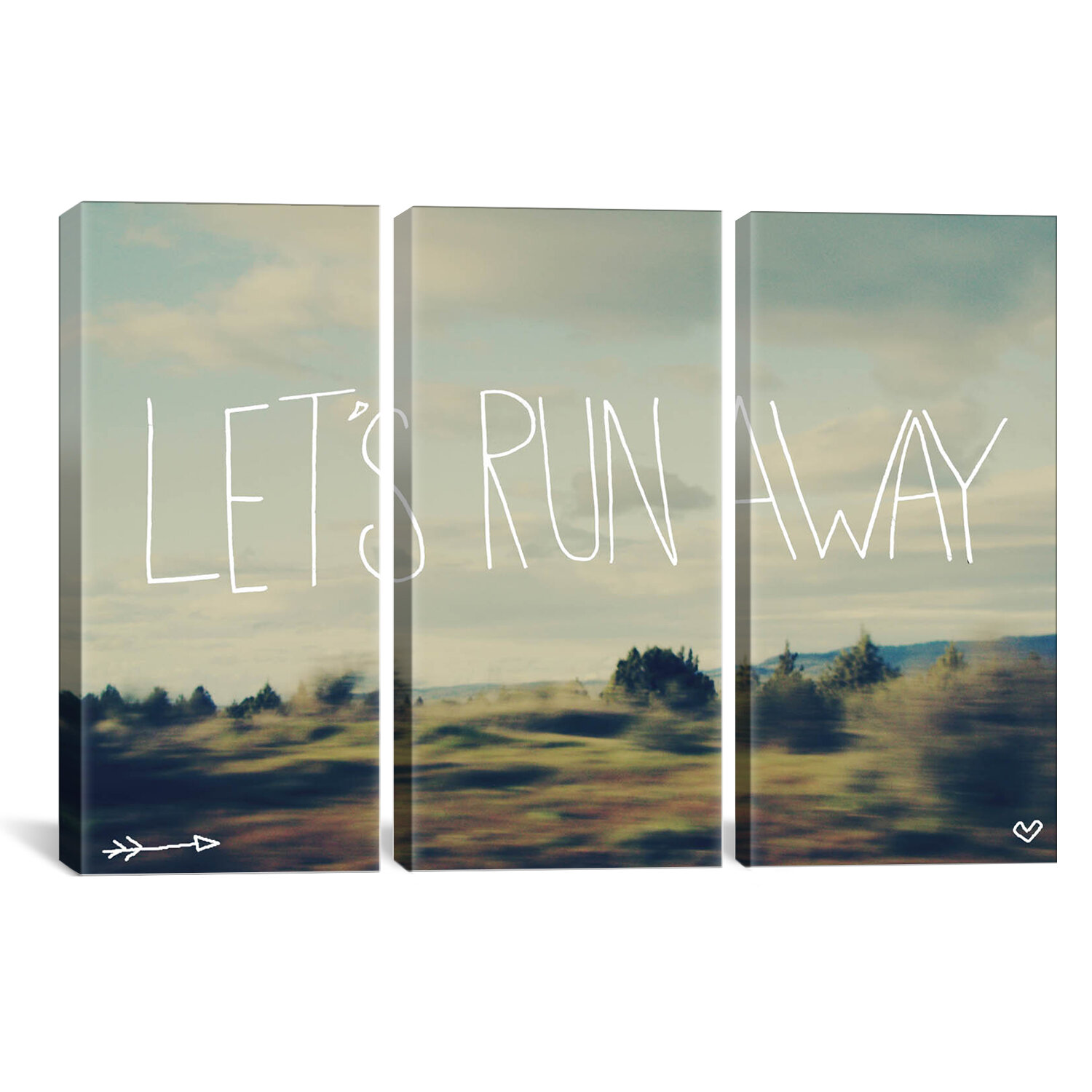 Icanvas Leah Flores Let S Run Away 3 Piece Wrapped Canvas Graphic Art Print Set Wayfair