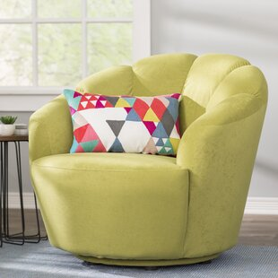 Wade Logan Giovanna Swivel Barrel Chair