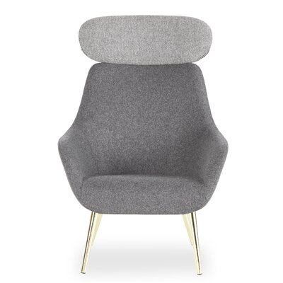Super Brady Headrest Lounge Chair Brayden Studio Seat Color Gray Gmtry Best Dining Table And Chair Ideas Images Gmtryco