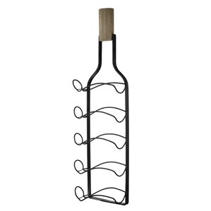 Caseyville 5 Bottle Wall Mounted Wine Rac..