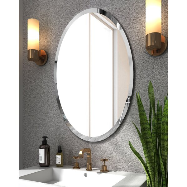 Latitude Run Annabellee Beveled Frameless Bathroom Vanity Mirror Reviews Wayfair