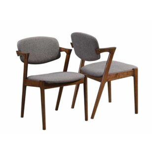 Wyckoff Upholstered Dining Chair (Set of 2) George Oliver