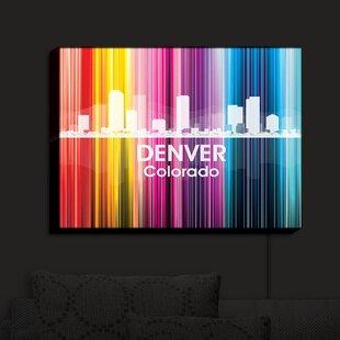 East Urban Home City II Denver Colorado' Print on Fabric