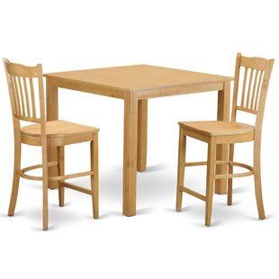 Cafe 3 Piece Counter Height Pub Table Set East West Furniture