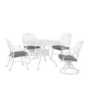 Nori 5 Piece Dining Set with Cushions