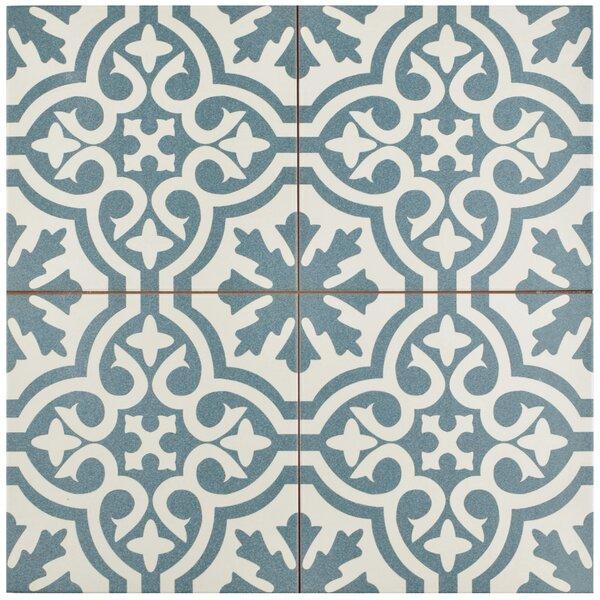 Alameda 17 63 X Ceramic Field Tile In Blue White Reviews Allmodern