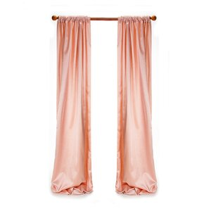 Remember My Love Drapery Solid Semi Sheer Curtain Panel (Set of 2)