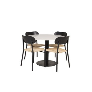Review Bakewell Dining Set With 4 Chairs