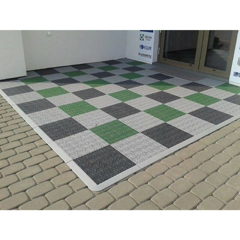Mats Inc Bergo 14 8 X 14 8 Plastic Interlocking Deck Tile In Shadow Gray Reviews Wayfair