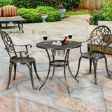 Shorehamby Outdoor Patio 3 Piece Bistro Set (Set of 3)