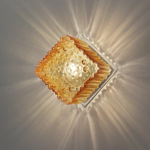 Bündige Wandleuchte 1-flammig Cubetti Siru Schirmfarbe: Bernstein   Lampen > Wandlampen   Siru