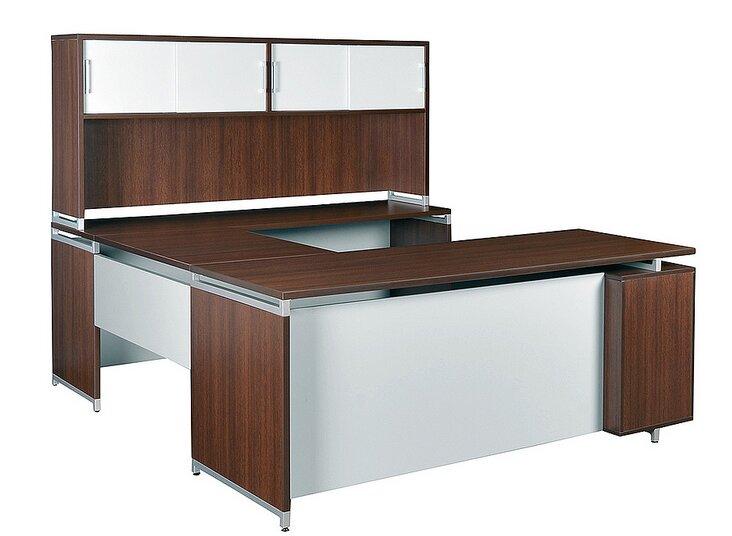 Maverick 5 Piece U Shape Desk Office Suite