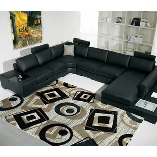Top Champaign/Black/White Area Rug By Rug Tycoon
