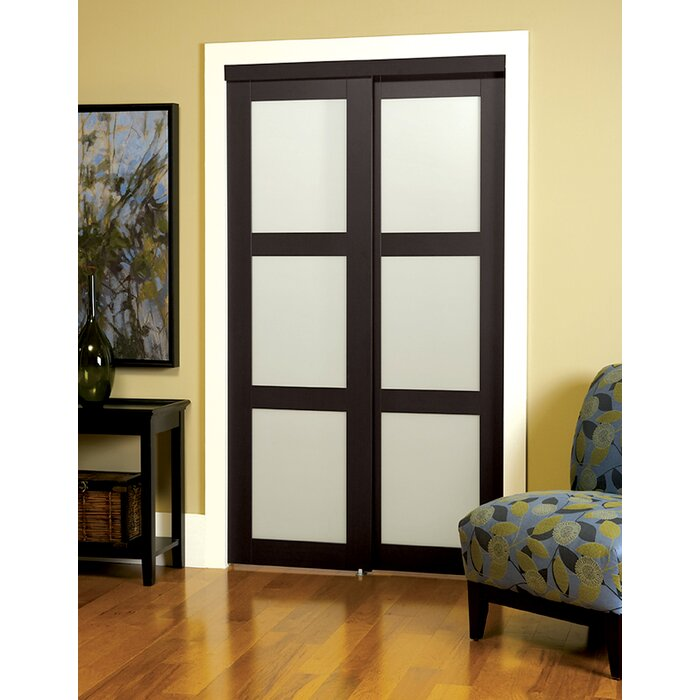 Erias Home Designs Track Mdf Sliding Closet Door Reviews Wayfair