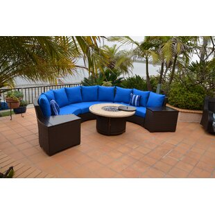 Red Barrel Studio Burgas Patio 5 Piece Rattan Section Seating Group With Cushions 4 Of The Most Unique Creative Luxury Patio Conversation Set Designs
