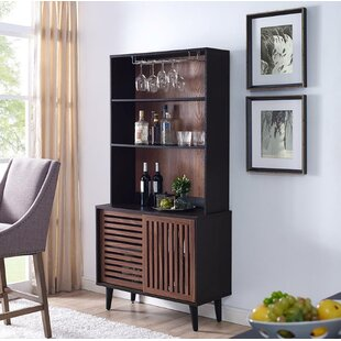Syren 2 Door Bar Cabinet with Hutch by Wrought Studio