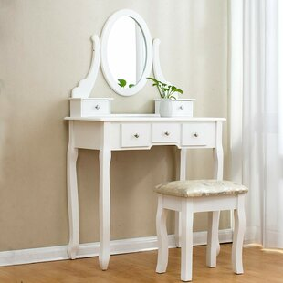 Dressing Table Set With Mirror By Lily Manor