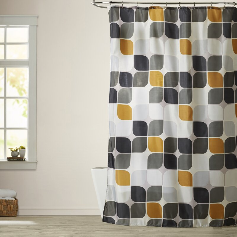 Langley Street Atlas Extra Long Shower Curtain & Reviews | Wayfair