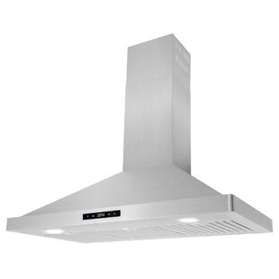 36 Cosmo 760 CFM Convertible Wall Mount Range Hood by Cosmo