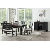 Edna Solid Wood Dining Table by Rosalind Wheeler