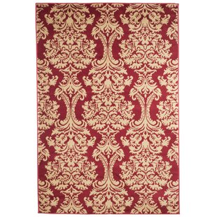 Oriental Red/Beige Area Rug byPlymouth Home
