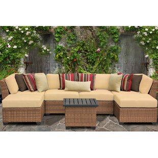 Rosecliff Heights East Village 7 Piece Sectional Seating Group with Cushions