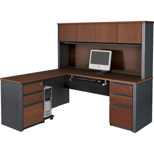 Kenworthy Reversible Executive Desk with Hutch by Ebern Designs