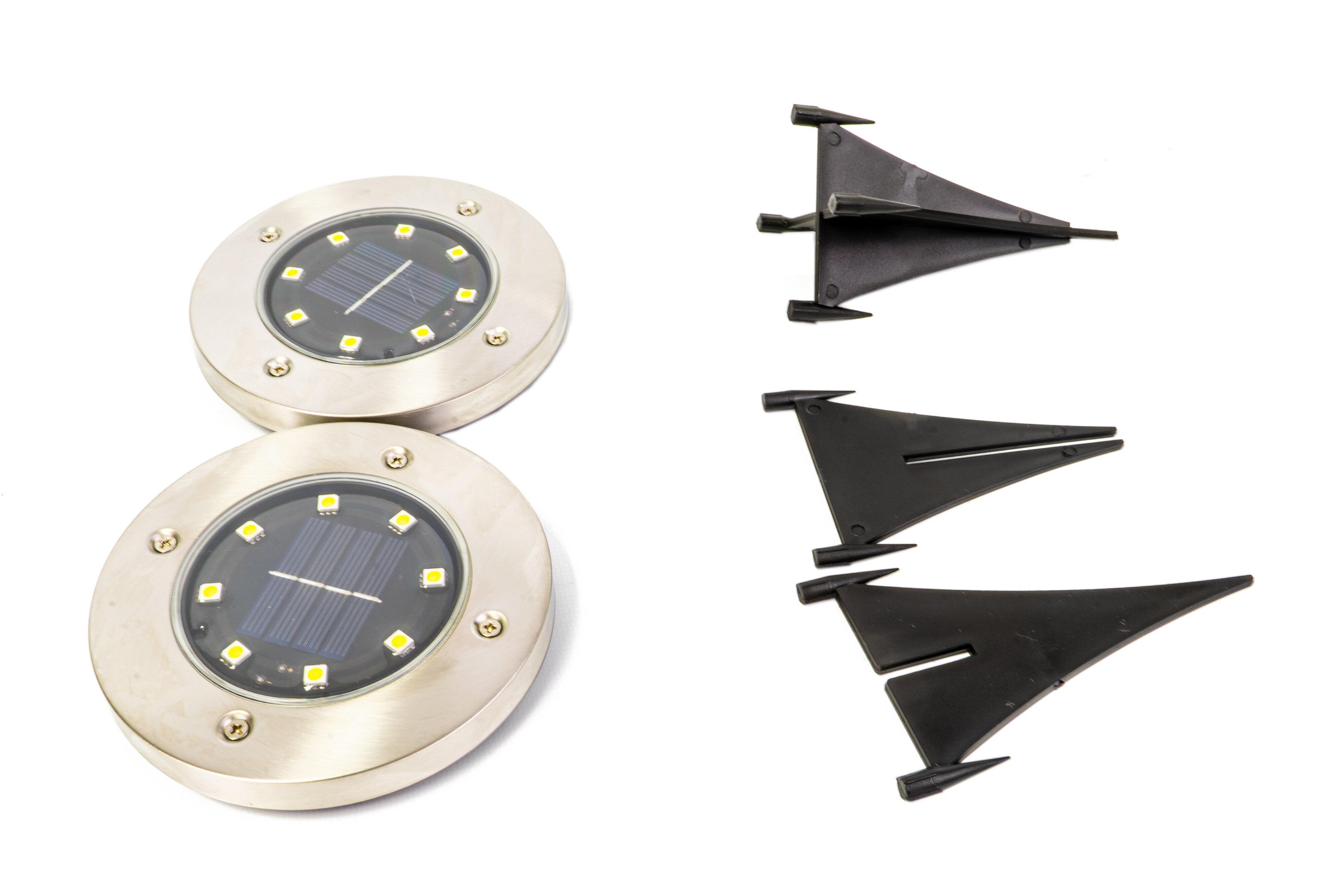 Crosslight Silver Solar Powered Integrated Led Well Light Pack Reviews Wayfair