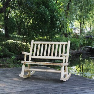 Millwood Pines Talon Wooden Rocking Bench
