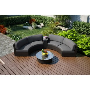 Hodge 4 Piece Sunbrella Sofa Set with Cushions