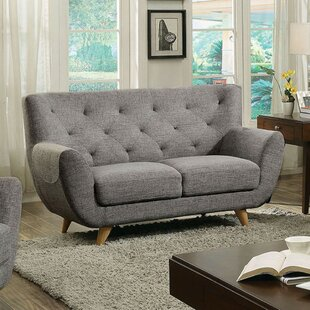 Walthall Midcentury Modern Loveseat by George Oliver