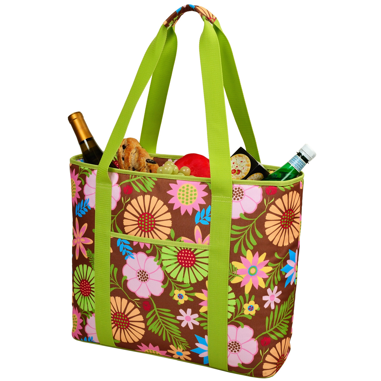 4a73a1991329 Picnic at Ascot 30 Can Floral Extra Large Insulated Tote Cooler ...