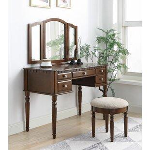 Rosdorf Park Cornwall Vanity Set with Mirror