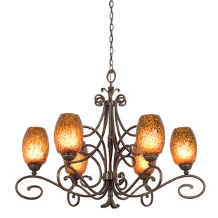 Amelie 6-Light Shaded Chandelier by Kalco