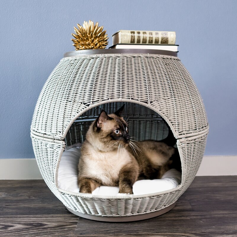 Latitude Run Deluxe Wicker End Table Cat Bed Reviews