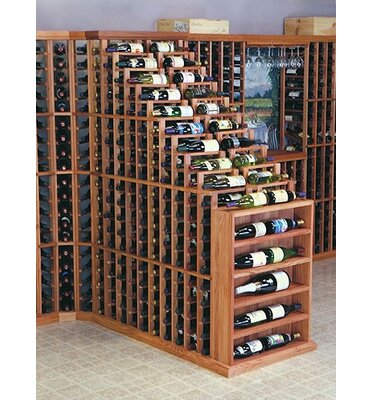 Wine Cellar Innovations Designer Series 282 Bottle Floor Wine Rack Finish: Dark Stained Premium Redwood