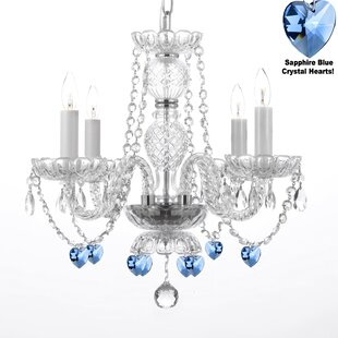 Kinde 4-Light LED Candle Style Chandelier by House of Hampton