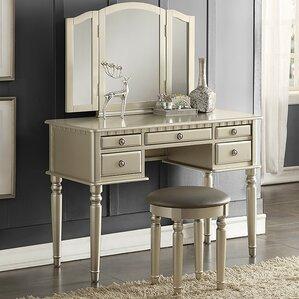 Simple Bedroom Vanity makeup tables and vanities you'll love | wayfair
