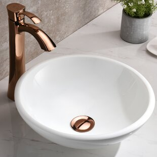 ANZZI Egret Series Glass Circular Vessel Bathroom Sink