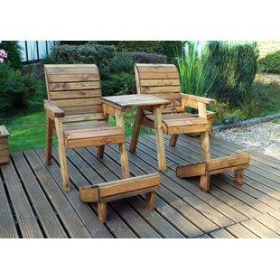 Petersen Deluxe Wooden Love Seat By Sol 72 Outdoor