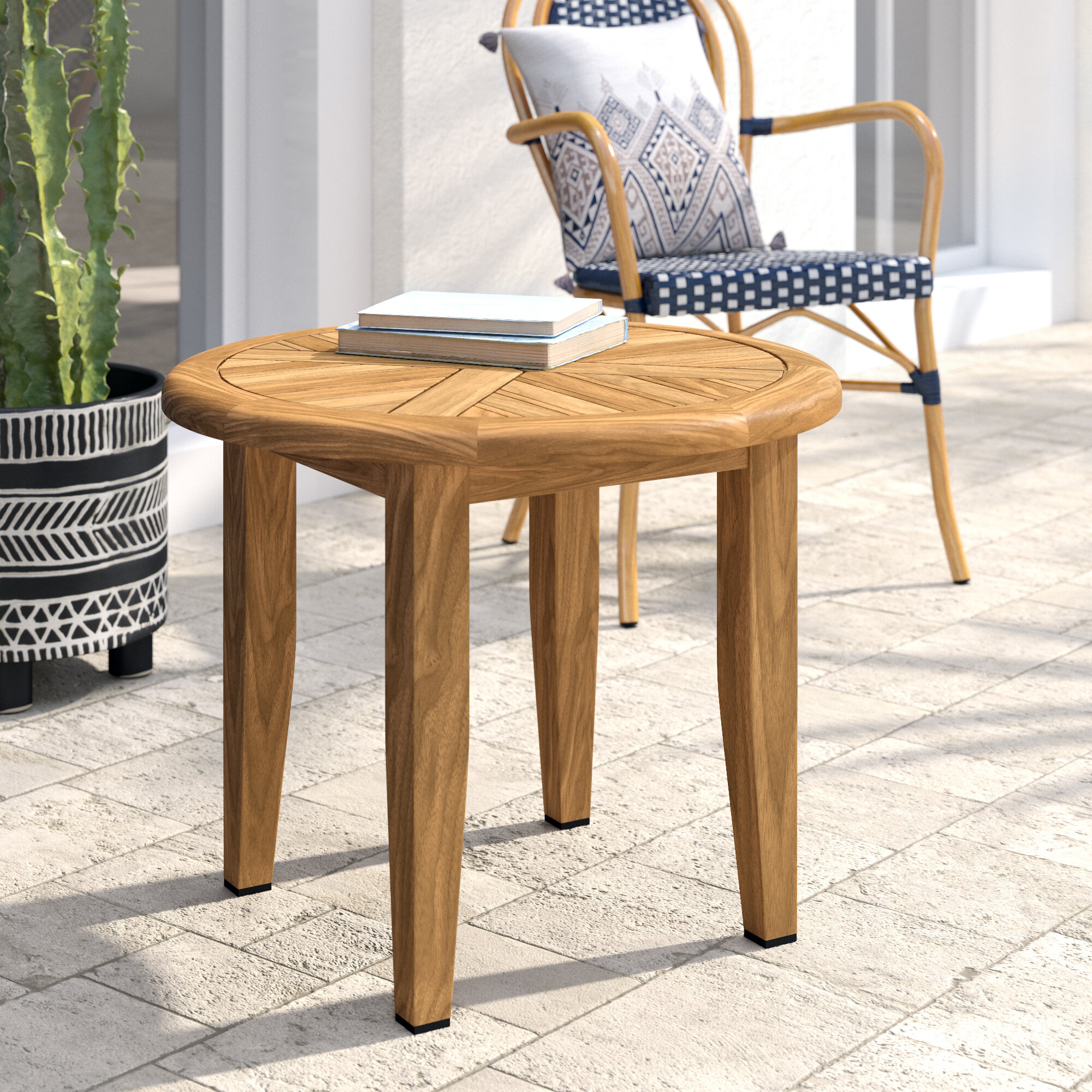 Beachcrest Home Rex Solid Wood Side Table Reviews Wayfair