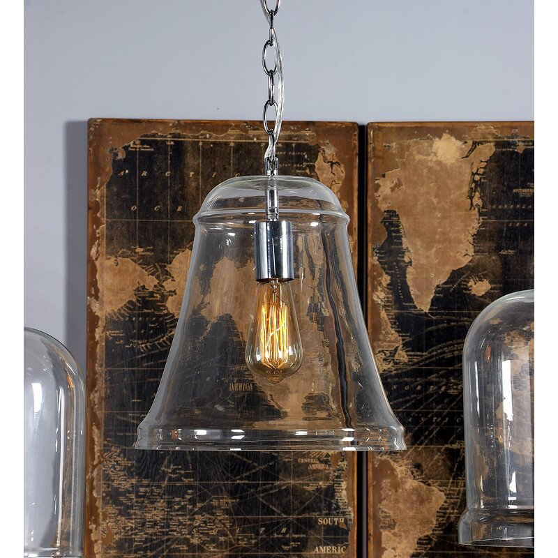Breakwater Bay Carpenter 1 Light Single Bell Pendant Wayfair