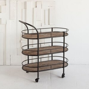 Reachalle Metal Wood Bar Cart by Inspired D?cor and Interiors
