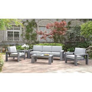 Sagers 4 Piece Deep Seating Group with Cushions