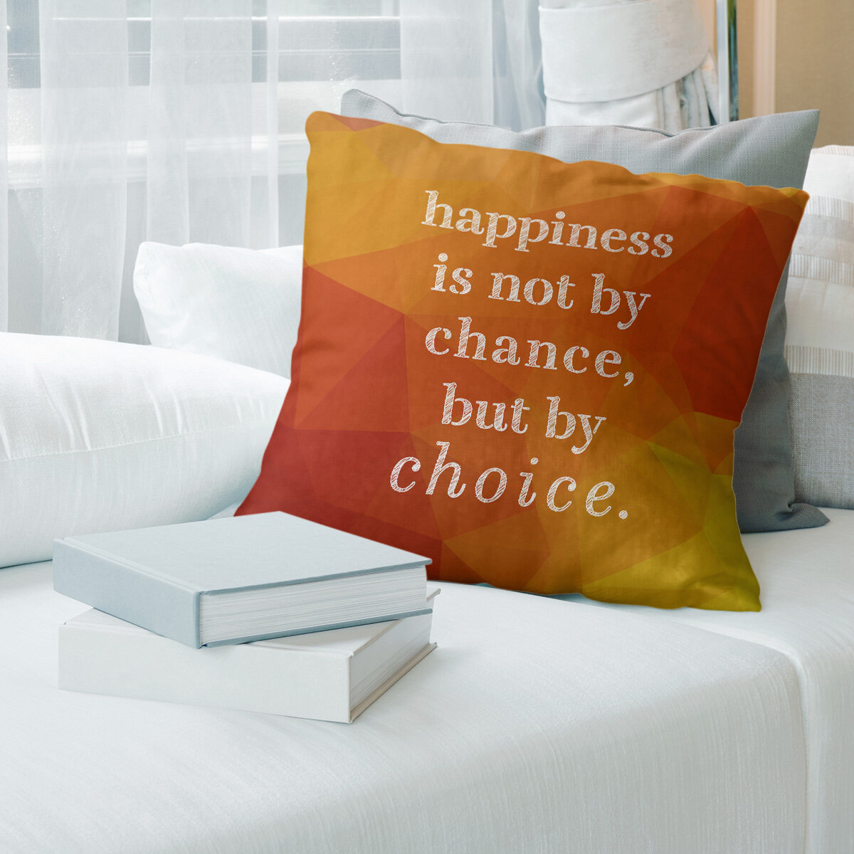 East Urban Home Faux Gemstone Happiness Inspirational Quote Pillow Wayfair Ca